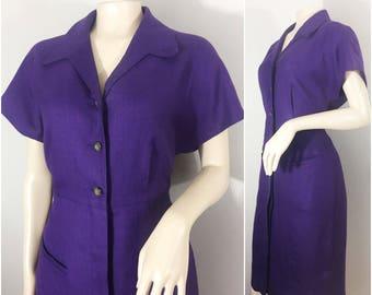 Purple Liz Claiborne Dress // Purple Vintage Dress