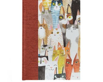 Address Book Large  Comic and Curious Cats
