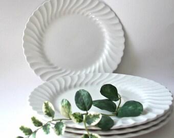 Johnson Brothers Ironstone, White Ironstone Dinner Plates, Snow White Regency, English Ironstone, Wedding Plates