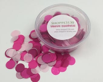 "ON SALE Pink Mix Tissue Confetti 3/4"" Circle Choose your colors or select one of our mixes"