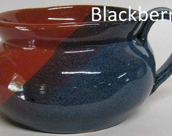 Handmade Pottery Chili Bowl, French Onion Soup, bowl with handle, Free shipping