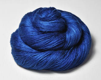 Ground sapphire - Fleece Silk Lace Yarn - LIMITED EDITION