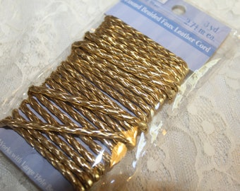 Gold Faux Leather Cord