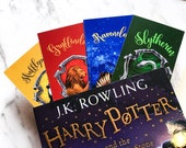 HP Houses Bookmark - Slytherin Bookmark - Ravenclaw - Hufflepuff - Gryffindor - Potter bookmark - potter gift - bookish gift - HP bookmark