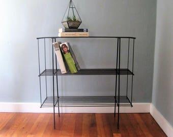 Mid Century Metal Shelf Stand