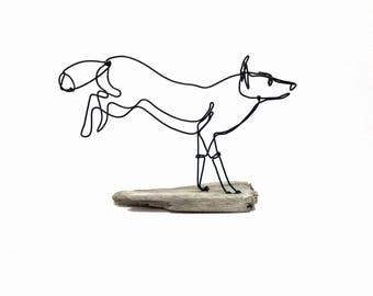 Running Fox Wire Sculpture, Fox Wire Art, Fox Art, 562056538