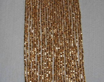 Pyrite, Pyrite Bead, Pyrite Faceted Bead, Natural Stone, Gold-Like Bead, Faceted Gold Bead, Small Bead, Full Strand, 2mm, AdrianasBeads