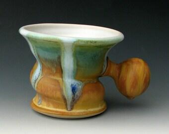 CERAMIC SHAVING MUG #20 - Shaving Cup - Shaving Dish - Shaving Bowl - Lather Mug - Mug for Shaving - Shaving Soap - Razor - Shaving Supplies