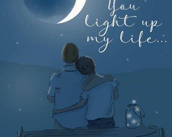 Summer - You Light Up My Life  - Art - Wall Art Print - Art Print -  Wall Art -- Print
