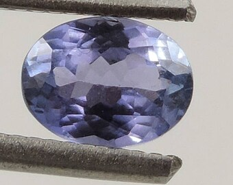 1.55 cts Flawless brilliant tanzanite faceted oval cut Tanzania