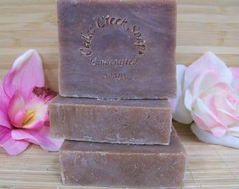 Cedarwood Sage Soap  Olive Oil Cold Processed Soap All Natural and Vegan Soap