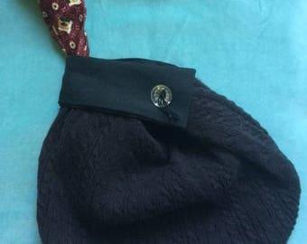 Black Knit Wristlet  Pouch