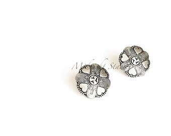 """Art Deco Inspired """"Juliet"""" Heart Earrings in Silver w/ Stainless Steel Posts. Will Arrive in Gift Box, Branded Tag, and a nice Ribbon."""