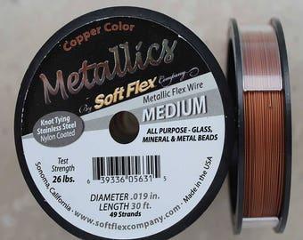 Soft Flex Copper Medium Wire, 30 Foot Spool