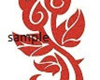Tribal Roses Cross Stitch Chart