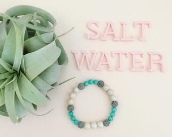 Salt Water Essential Oil Diffuser Bracelet Lava Bead Essential Oils Bracelet
