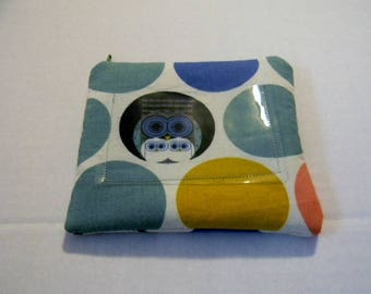 Charley Harper Owl Family Organic Cotton Zipper Change Purse