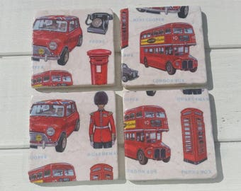 London Coaster Set of 4 Tea Coffee Beer Coasters