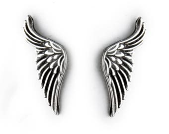 Angel Wings Sterling Silver Post Earrings