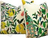 BARRETT - Custom order for Schumacher Pillow Cover - 18X18 - Citrus Garden - TWO - pillow covers - made to order