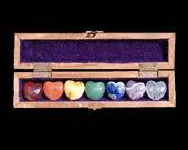 Chakra Stone Set   7 Chakra Crystals   Chakra Set in Wooden Box   Healing Touch Gift   7 Chakras Meditation audio mp3   Chakra Heart Stones