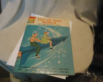 Vintage 1960's Out Of This World Fun and Activity Book by Grosset & Dunlap, collectable