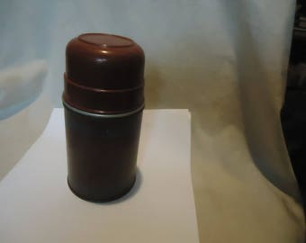 Vintage Half Pint Economy Vacuum Thermos Bottle by Aladdin,  collectable