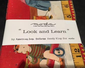 Moda American Jane Look and Learn Charm Pack by Sandy Klop