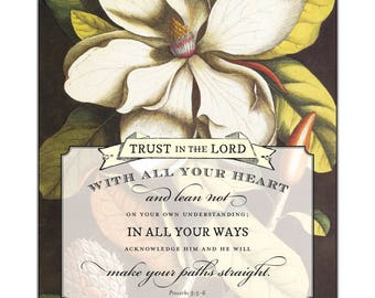 Floral Scriptures Proverbs 3:5,6
