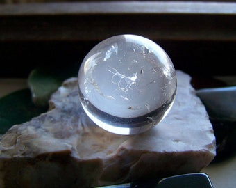 Natural Clear Quartz Hand Carved Crystal Ball