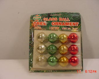12 Jayem Vintage Mercury Glass Christmas Tree Ornaments In Original Packaging  17 - 1173