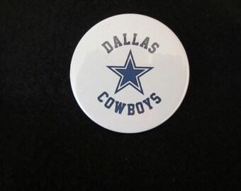 Dallas Cowboys Footbal Pin Back Button. Dallas, Cowboys, Pin back Button, Sports Logo, Sports Button