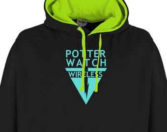 Potterwatch Wireless Harry Potter Hoodie - The Deathly Hallows Pirate Radio Show Hoodie