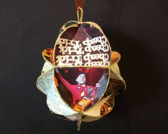 Cheap Trick Album Cover Ornament Made Of Recycled Record Jackets