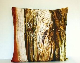 "SALE SALE SALE 16x16 pillow, throw cushion, decorative pillow,  Wood cushion, organic cotton cushion cover, pillow, 16"" pillow, photography"