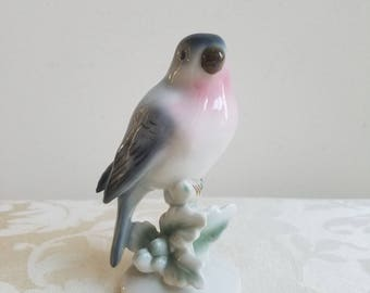 Vintage Bird Figurine Statue Porcelain by Erphila Germany 1986 in Mint Condition