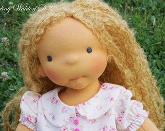 """SOLD Waldorf Doll June, 15"""" OOAK doll"""