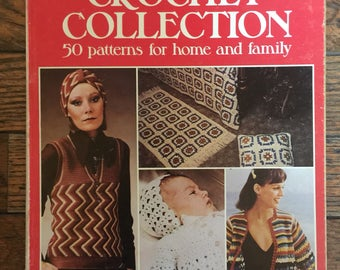 Vintage 1976 Crochet Collection Book Golden Hands Special