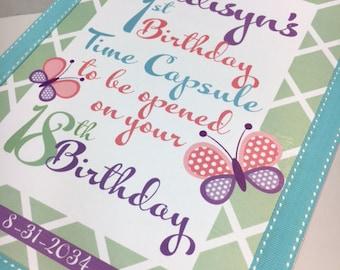 1st Birthday Time Capusule Keepsake Box