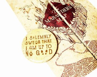 Harry Potter Accessories Mauraders Map Geeky Pinback Buttons Solemnly Swear