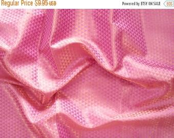 CIJ SALE indian brocade fabric indian fabric pink and gold fabric pink brocade - br125 - 1 yard