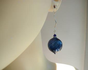 Long Murano Blown Glass Earrings