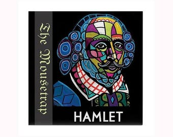 William Shakespeare Tile art Heather Galler Hamlet poet playwright actor writer dramatist sonnets poems playwright Book Lover gift