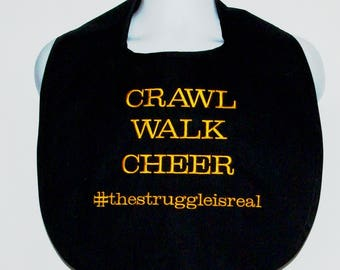 Struggle Is Real, Custom Adult Bib, Gag Gift For Cheerleader, Boss, Coach, Teacher, Teen, Friend, No Shipping Fee, Ships Today, AGFT 1190