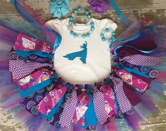First Birthday Frozen Outfit  - Disney Frozen Little Girls Outfit - Queen Elsa Birthday Outfit - Baby Girl Frozen Outfit