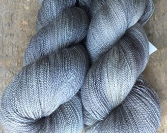 Putty -  Hand Dyed Merino Silk Lace Yarn