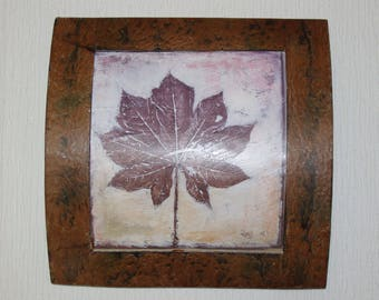 Marijuana Leaves Artwork on  Three Dimension wood Frame