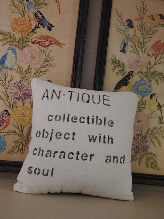 decorative pillow with antique definition