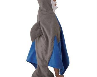 Hooded Shark Towel by MudPie