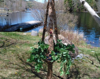 Northern Lights Macrame Plant Hanger With Autumn-Colored Beads
